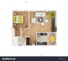 view 1 bedroom home decor large size 3d floor plan stock photos images pictures shutterstock simple of a awesome office table top view shutterstock id