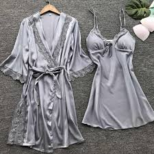 Sexy night dress sleepwear <b>women silk</b> bathrobe <b>Women's Lady</b> ...