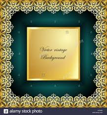 Abstract golden <b>square lace</b> frame with paper swirls Stock Vector ...