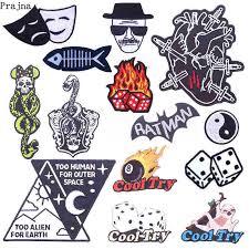 <b>Prajna</b> Cartoon Dice Card Iron On <b>Patches</b> For Clothing Skull Cake ...