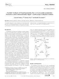 (PDF) Scalable Synthesis of Enantiomerically Pure cis-1,2 ...
