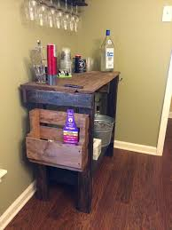 recycled pallet distressed table unique diy coffee station