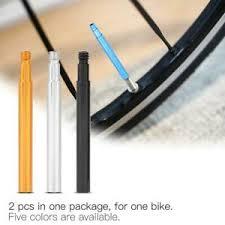 <b>2Pcs Bike</b> Valve Extender <b>Aluminum Alloy Bicycle</b> Inner Tube Presta ...