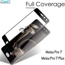 9H <b>Full</b> Cover <b>Tempered Glass Film</b> for Meizu Pro 7 Plus 2.5D pro7 ...