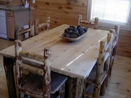 Log Dining Room Tables Inside