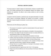 Dissertation Proposal Template Free Sample Example Format Template