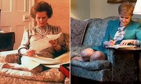 Nicola Sturgeon photo similar to Thatcher picture | Daily Mail Online