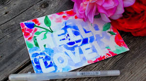 Glaze Pen Watercolor Resist <b>Postcards</b> - YouTube