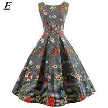 <b>Платье в клеточку</b>, винтажное платье средней длины в стиле ...