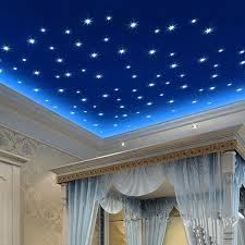 <b>100Pcs 3D Stars Glow</b> Wall Stickers Cute Living Home Decor ...
