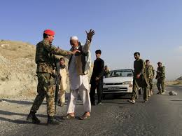 rand afghan national army iers inspect passengers at a checkpoint in eastern 29