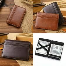 NEW PU leather creative <b>magic wallet card</b> bag business <b>card</b> bag ...