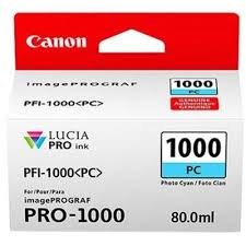 Original Ink Cartridge <b>Canon PFI</b>-<b>1000PC</b> (0550C001) (<b>Cyan Photo</b>)