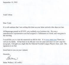 my al bansavage autograph request tales from the afl al bansavage letter