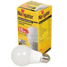 <b>Лампа светодиодная Navigator</b> 71 365, <b>15 Вт</b> Е27 холодный ...