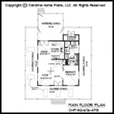 Tiny Country Cottage House Plan SG  Sq Ft   Affordable Small    SG  Main Floor Plan