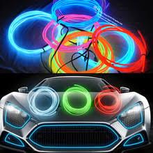 5m el decorative strip light car interior lights ambient lighting retrofit body trim interior led cold light ambient interior lighting