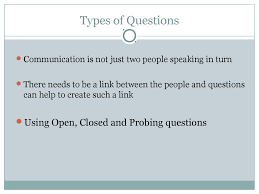 barriers to communication interpersonal skills  types of questions