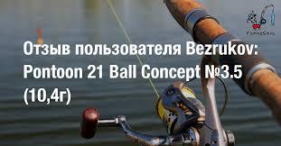 Отзыв пользователя Bezrukov: <b>Блесна Pontoon21 Ball Concept</b> ...