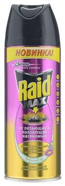<b>Аэрозоль Raid</b> от летающих и ползающих <b>насекомых</b> Весенний луг