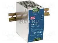 «NDR-240-24, <b>Блок питания</b> импульсный, <b>тонкий</b>, 240В ...