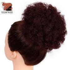 ELEGANT MUSES Soft Ponytail High <b>Puff Afro</b> Hair Bun Synthetic ...