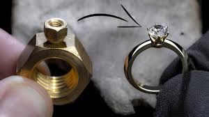 I TURN 2 HEX NUTS into a 1 Ct <b>DIAMOND</b> RING - YouTube
