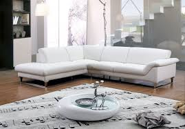 inspirational modern living room ideas showing a gorgeous chic white upholstery leather l shaped sectional sofa beautiful combination wood metal furniture