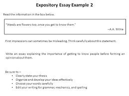 "expository writing ninth grade eoc writing test  expository essay    expository essay example  ""weeds are flowers too  once you get to know them"