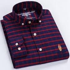 100% Cotton High-Grade Brand <b>Men's</b> Clothing <b>Men</b> Oxford Striped ...