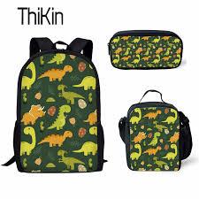 <b>THIKIN</b> Kids School Bags for Boys <b>3pcs</b>/<b>set</b> Dinosaur Schoolbag ...