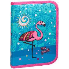 """<b>Пенал</b> 1 отделение, 200*140*40 <b>Berlingo</b> """"<b>Flamingo</b>"""", полиэстер ..."""