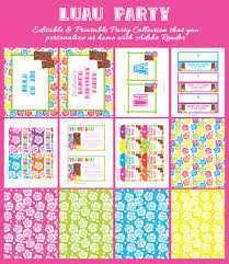 excellent hello kitty party invitations to print birthday party astounding hawaiian luau party invitations printable middot appealing