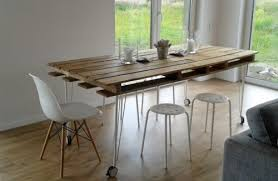 dining table with wheels:  diy industrial dining table for indoors and outdoors