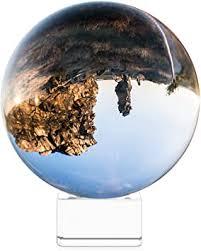 Navaris Crystal <b>Clear</b> Glass Ball - 100mm <b>Transparent K9 Globe</b> for ...