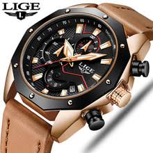 <b>Mens Watches Top</b> Brand Luxury <b>LIGE Men's</b> Military Sports Quartz ...