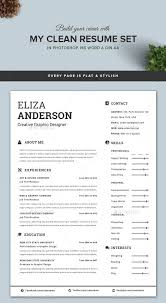 modern clean resume template how do i get a resume template on word