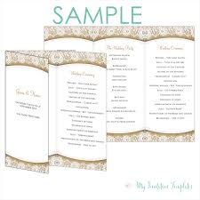 program samples archives my invitation templates for diy rustic burlap and lace trifold wedding program template sample