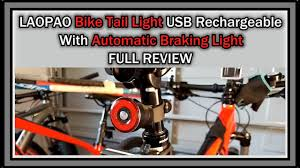 LAOPAO <b>Q5 Bike</b> Tail <b>Light</b> USB Rechargeable With Automatic ...