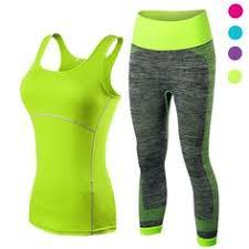 Leggings <b>Set Gym</b> Yoga Pants Vest Strapless Tank   Tracksuit ...