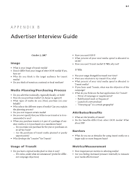 appendix b advertiser interview guide practical measures to page 94