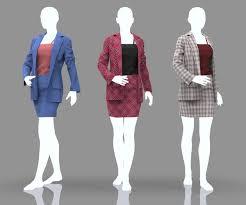 Women Elegant Office Suits - 18 Marvelous Designer ... - ArtStation