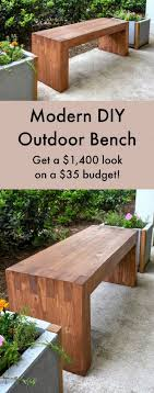 tropical patio wood bench
