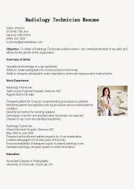 resume mri technician radiologic technologist resume example resume samples radiology technician resume sample