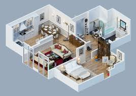 apartment designs shown with rendered 3d floor plans apartment furniture layout