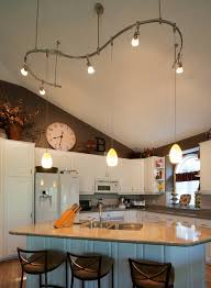 vaulted ceiling with lowered track lighting traditional kitchen by creative lighting cathedral ceiling track lighting
