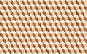 Brown And Beige <b>Square Stone Wall</b> Tiles With Abstract Geometry ...
