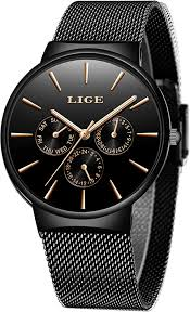 LIGE Watch <b>Men Fashion Waterproof</b> Sport Analog Quartz Watch ...