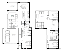 Double Storey Bedroom House Designs Perth   apg Homesview floorplans