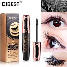<b>Qibest Mascara</b> 4D <b>Silk Fiber</b> Black <b>Eyelashes</b> Curling Thick ...